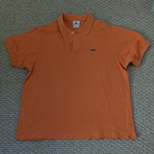 Lacoste Mens Orange Polo Shirt